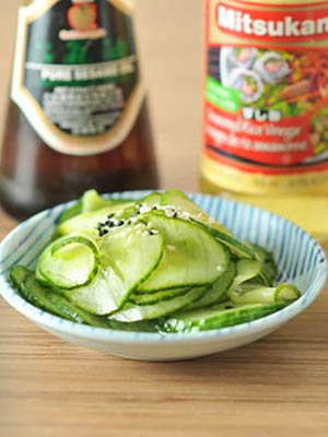Lazy Pickles (or Japanese Cucumber Salad) | Kiku Corner