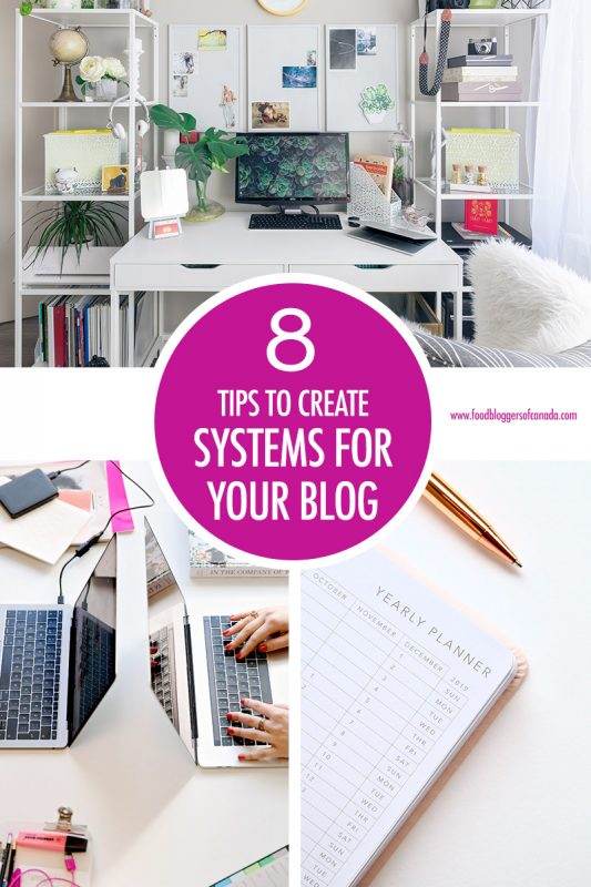 8 Ways To Systematize Your Blog | Food Bloggers of Canada