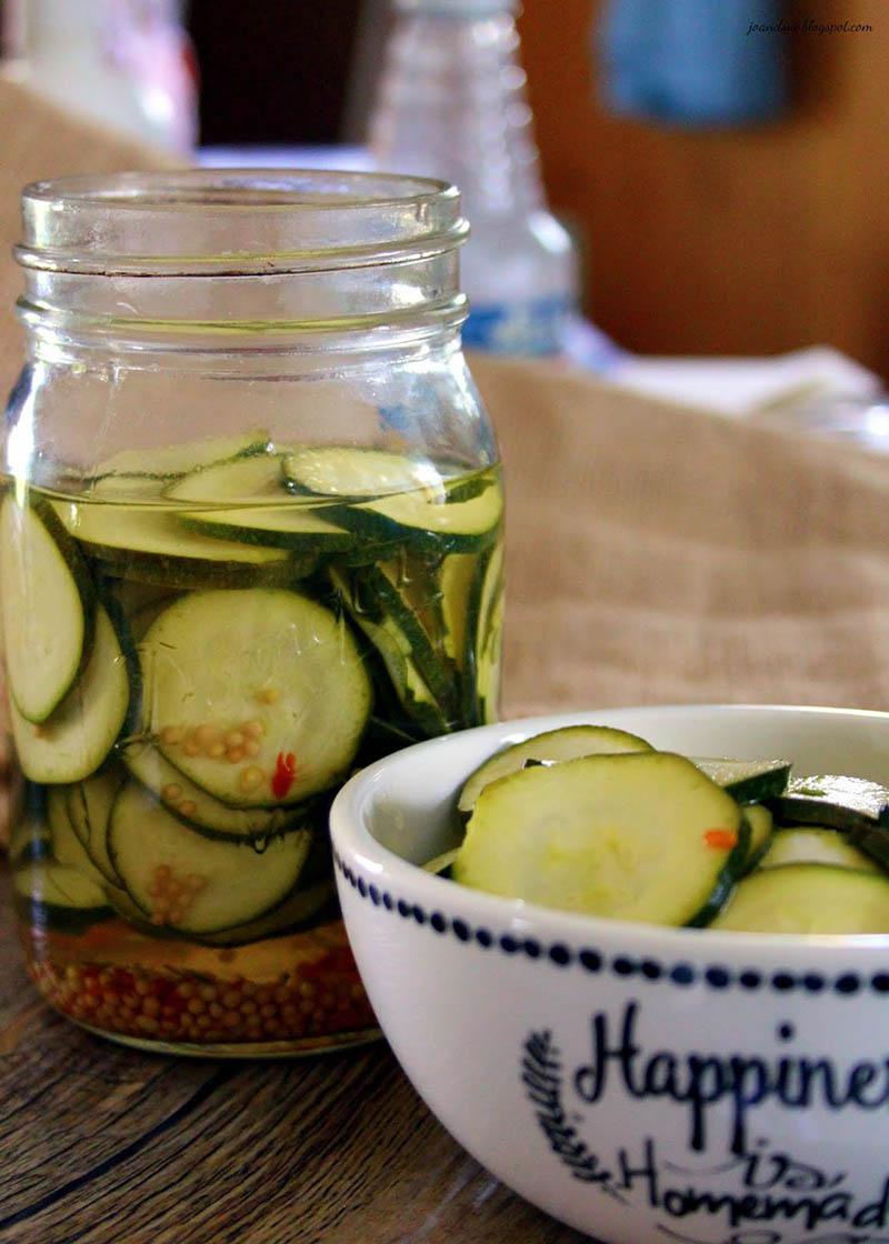 Spicy Quick Zucchini Pickles | Jo and Sue