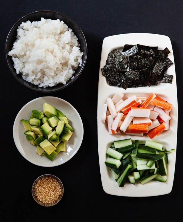 California Roll Salad Ingredients