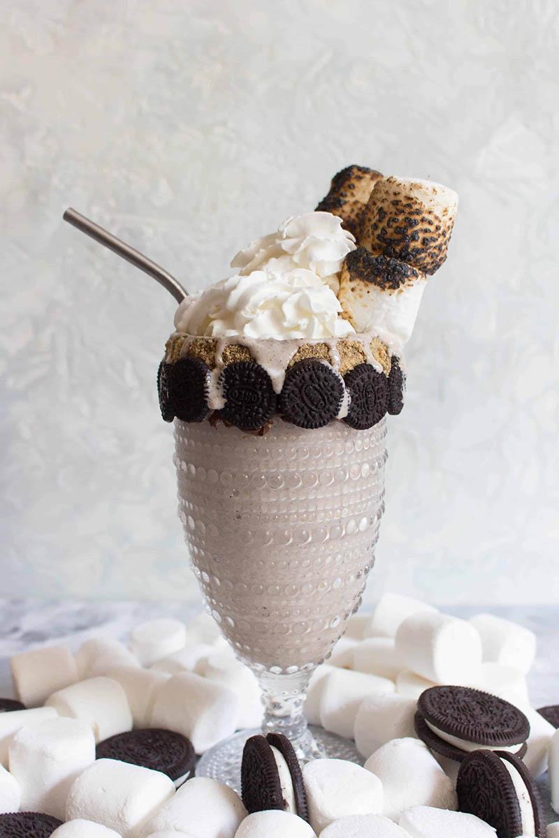 Toasted Marshmallow & Oreo Milkshake Freak Shake | Carmy