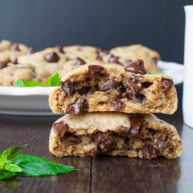 Mocha Mint Chocolate Chip Cookies | Sweet Little Baker