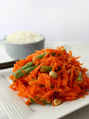 Spicy Carrot Salad | Pickles and Potstickers