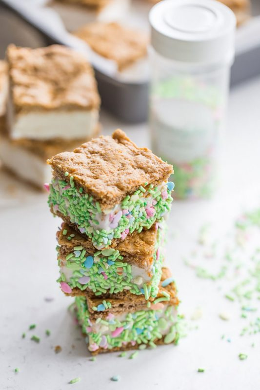 Carrot Cake Ice Cream Sandwiches | Crumb Top Baking