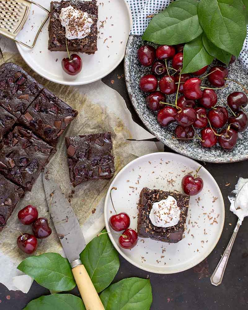 Black Forest Black Bean Brownies