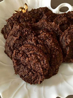Chewy Double Chocolate Avocado Fudge Cookie | Nourished by Caitlin Iles