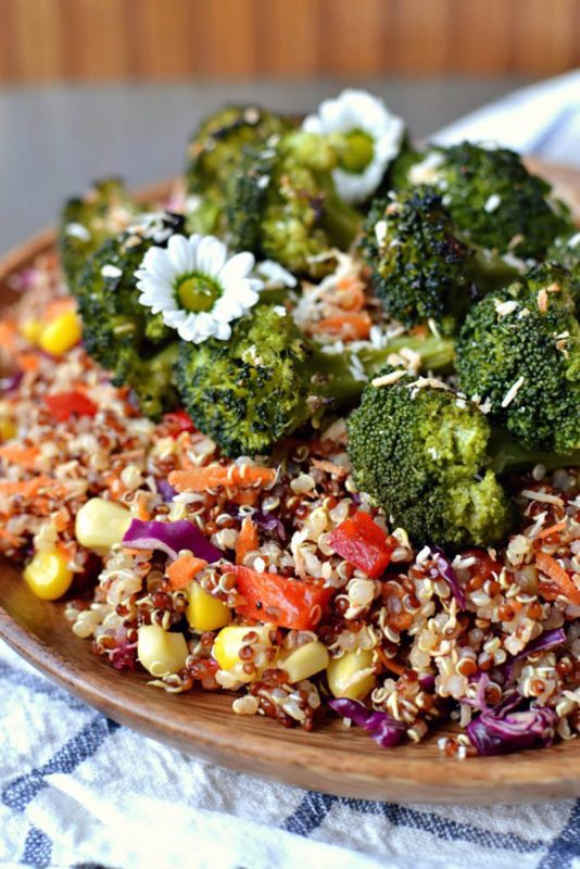Confettie Coconut Carrot Quinoa Salad | Radiant Rachels