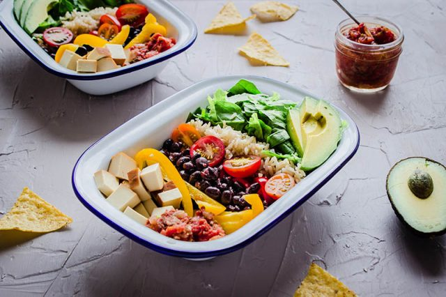 Healthy Mexican Bowls with Salsa