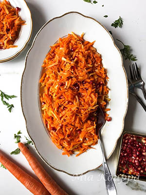 Grated Carrot Salad | Mia Kouppa