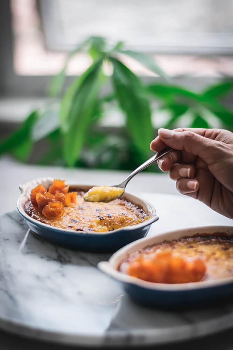 Vegan No Bake Carrot Creme Brulee | Nidhi Patel