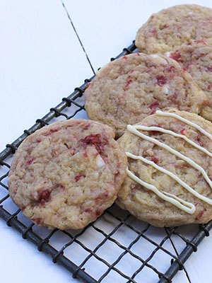 Eggless Raspberry White Chocolate Cookies | Simple Fresh Wellness