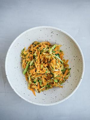 Spiced Zucchini Carrot Salad | Nidhi Patel