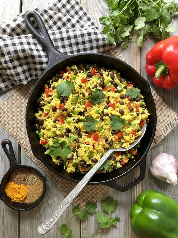 Jewelled Rice and Black Beans | The Kitchen Fairy