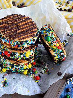 Stroopwafel Ice Cream Sandwich Cookies   Lord Bryon's Kitchen