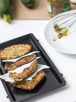 Quick Zucchini Pesto Fritters | Bon Appét'Eat