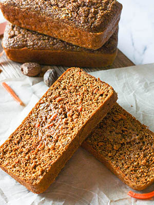 Gluten-Free Carrot Cake Breakfast Bread | The Delicious Spoon