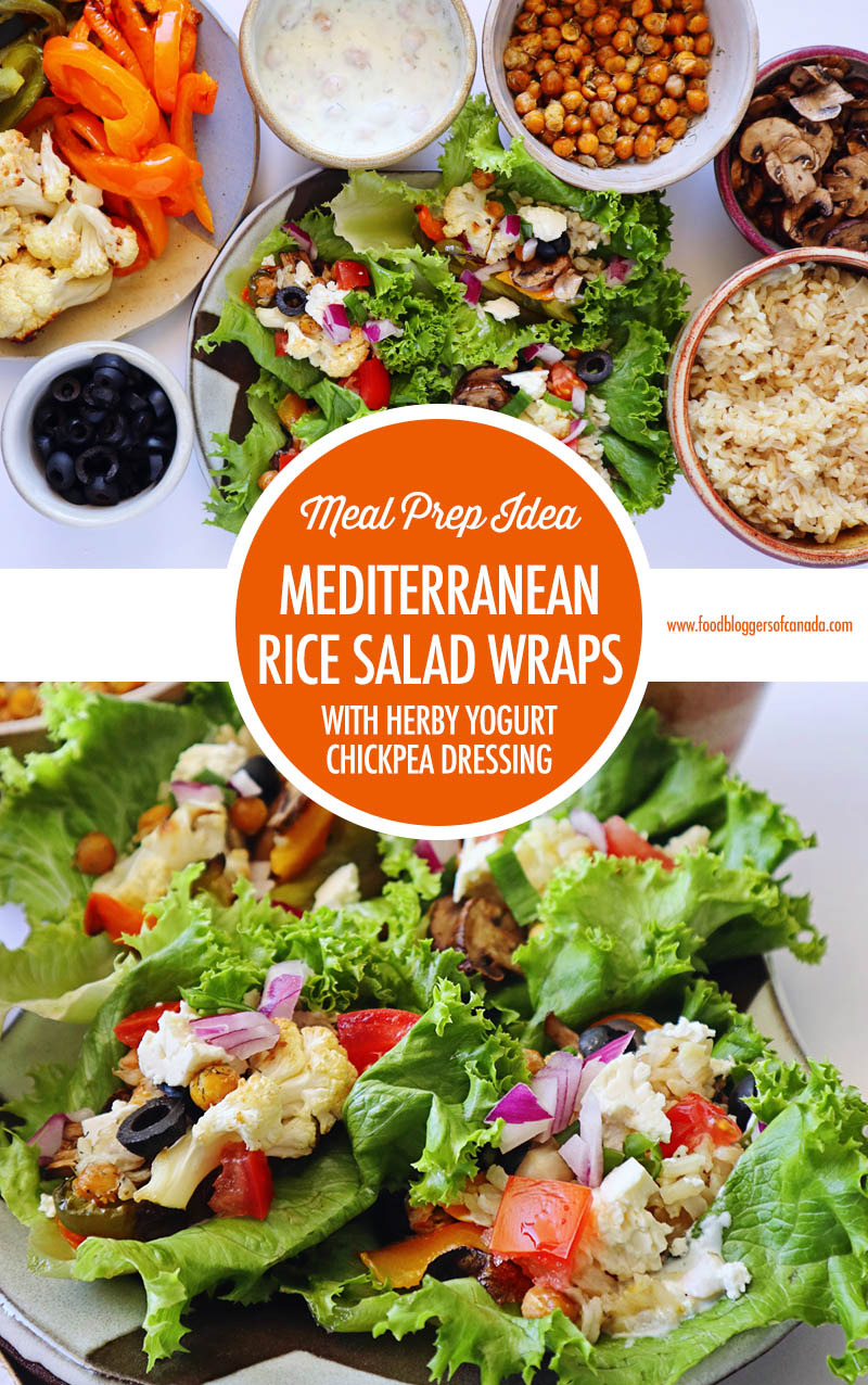Mediterranean Inspired Rice Salad Wraps | Food Bloggers of Canada