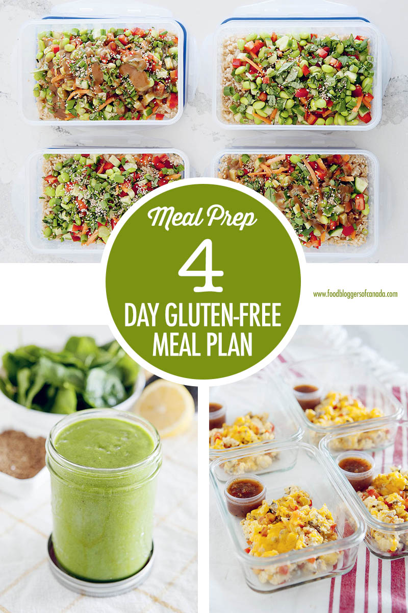4 Day Gluten Free Meal Plan with Erin Romeo | Food Bloggers of Canada