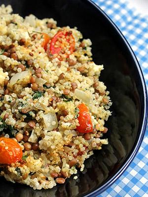Mediterranean Quinoa and Lentils | Jo and Sue