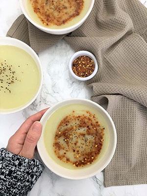 5 Ingredient Creamy Cauliflower Soup | This Healthy Kitchen