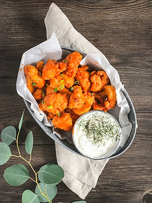 Buffalo Cauliflower Bites | Food Bloggers of Canada