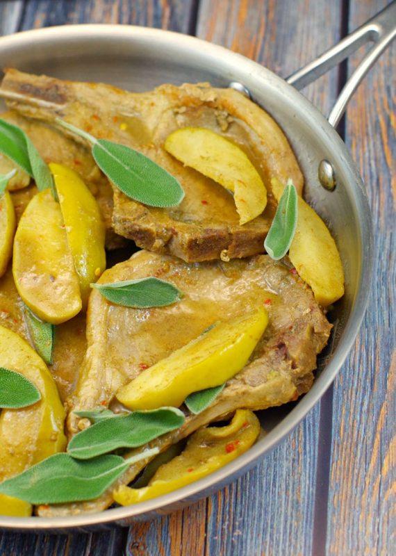 Pork Chops with Apple Sage Sauce | Food Meanderings