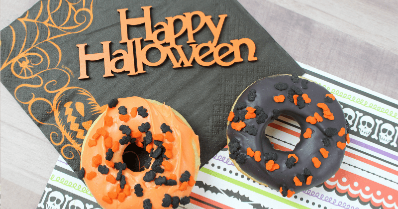 Easy, Baked Cake Mix Halloween Doughnuts | The Mommy Mix