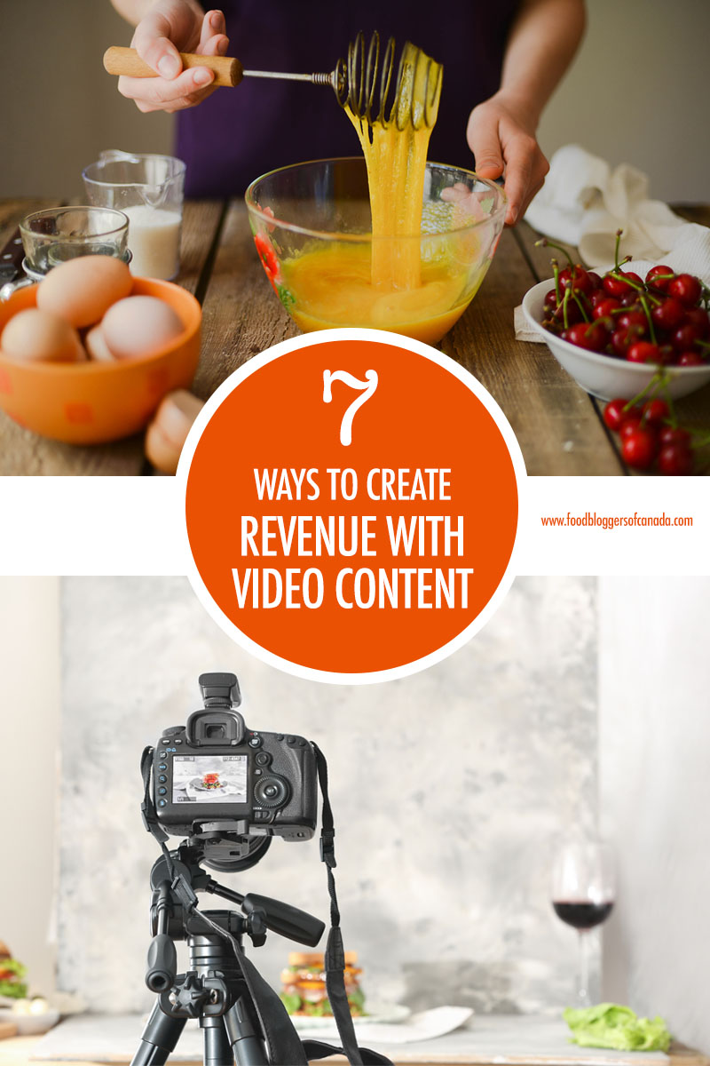 7 Ways to Create Revenue with Video Content | Food Bloggers of Canada