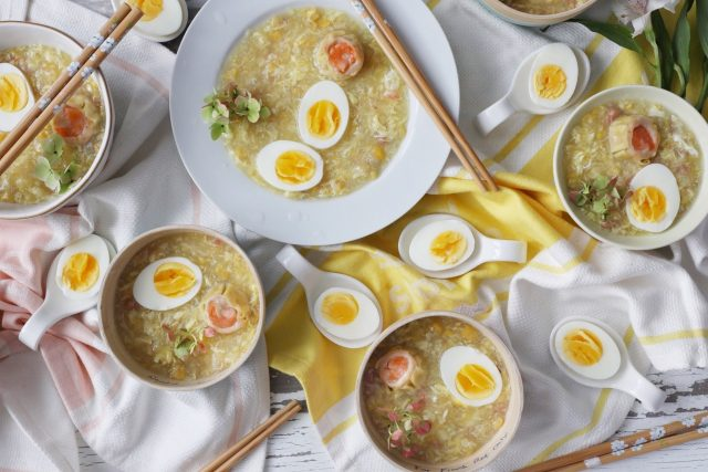 Egg Drop Soup with Sweet Corn and Crab