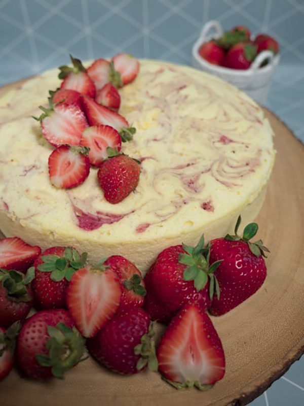 Strawberry Marble Japanese Cheesecake | The Joyce of Cooking