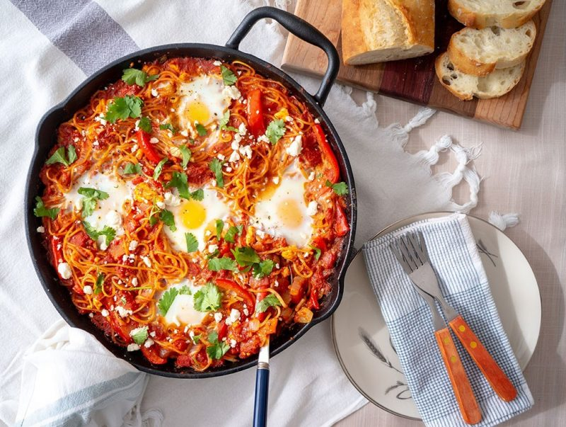 Shakshuka Spaghetti Bake | Food Girl in Town