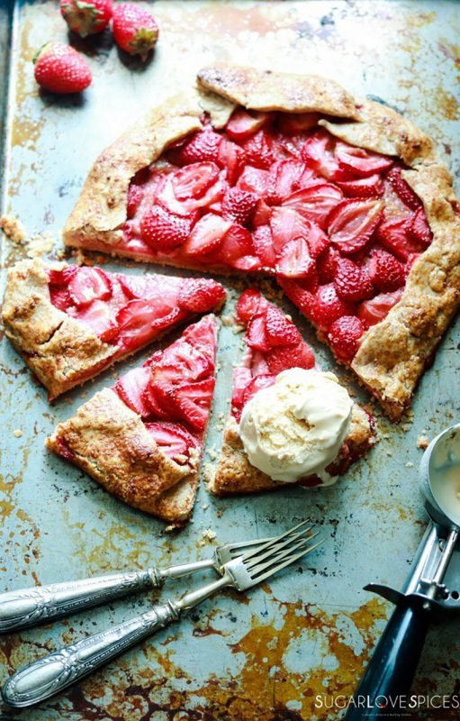 Strawberry Frangipane Galette | SugarLoveSpices