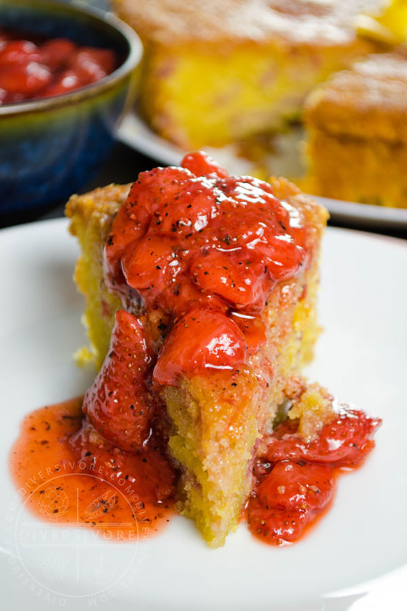Strawberry Polenta Cake | Diversivore