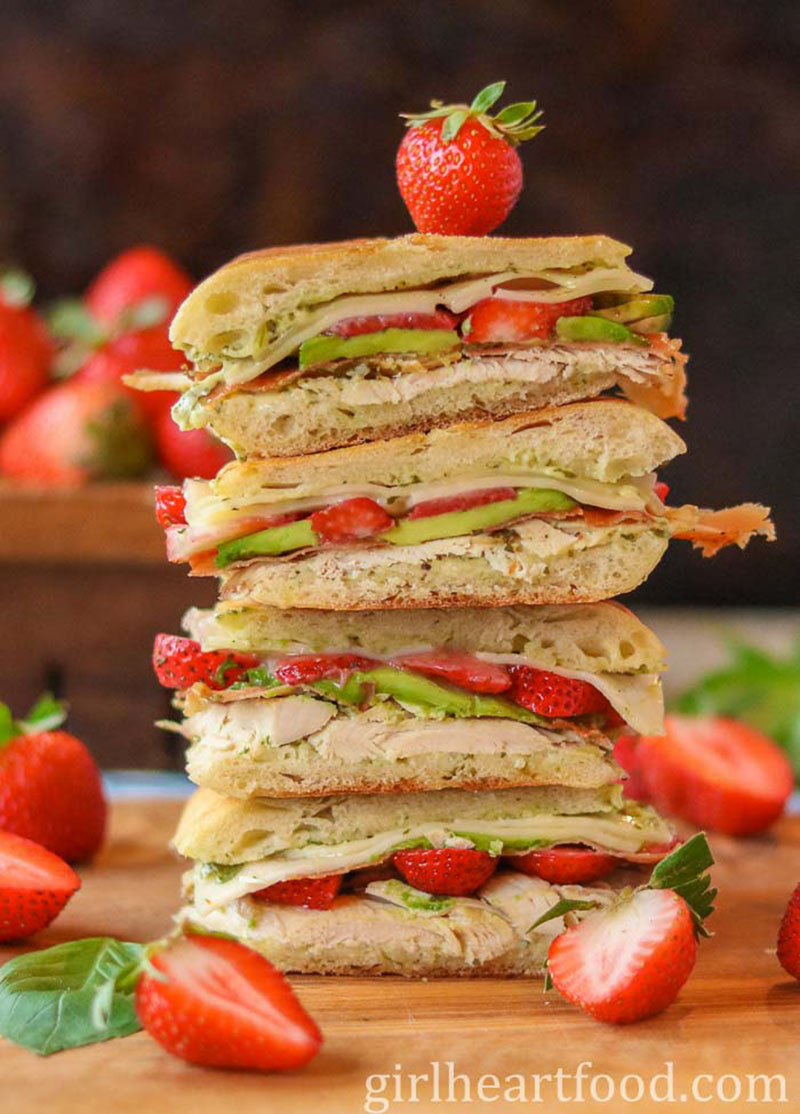 Turkey Panini with Strawberries | Girl Heart Food