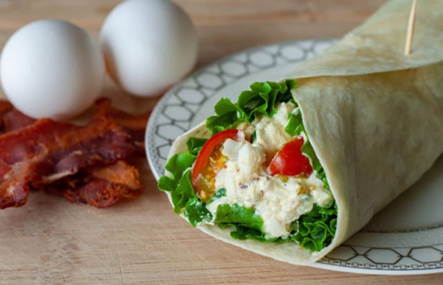 Bacon and Egg Salad Wrap | Mommy Kat and Kids