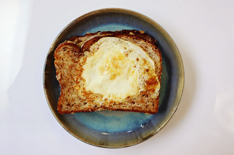 Grillled Cheese Toad in the Hole Sandwich   Food Bloggers of Canada