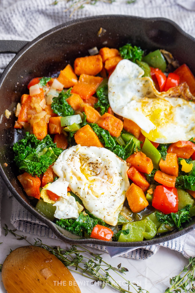 Sweet Potato Egg Skillet | Bewitchin Kitchen