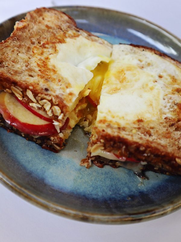 Toad in the Hole Grilled Cheese Sandwich | Food Bloggers of Canada