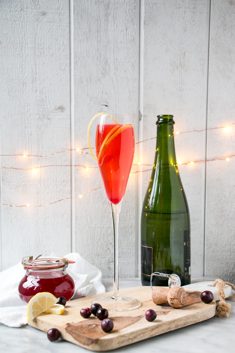 Cranberry French 75 | My Kitchen Love