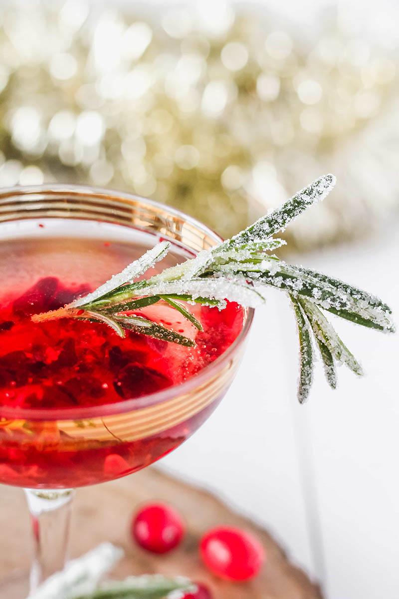 Cranberry Rosé Fizz | Cooking in My Genes