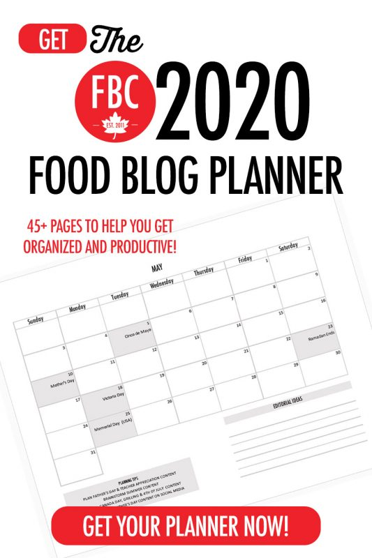 FBC 2020 Food Blog Planner