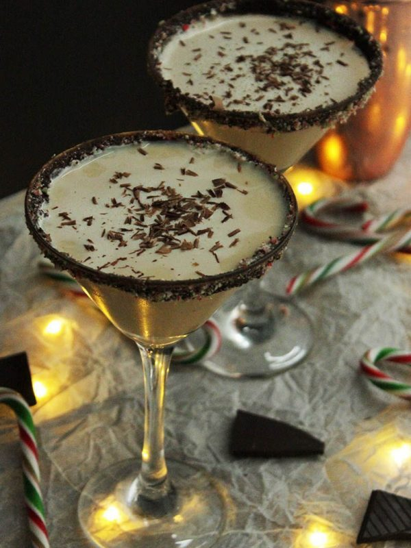 Bailey's Candy Cane Cocktail | Slow the Cook Down