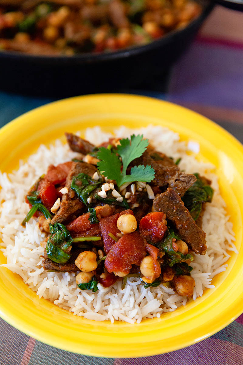 Chickpea Beef Curry & Rice | Food Bloggers of Canada