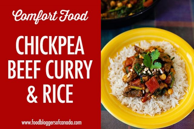 Chickpea Beef Curry and Rice | Food Bloggers of Canada