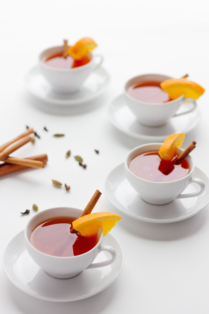 Orange Spiced Mulled Tea | Maple + Mango