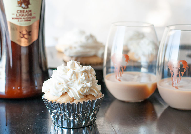 Amarula Cupcakes with White Chocolate Ganache | Mommy Kat & Kids