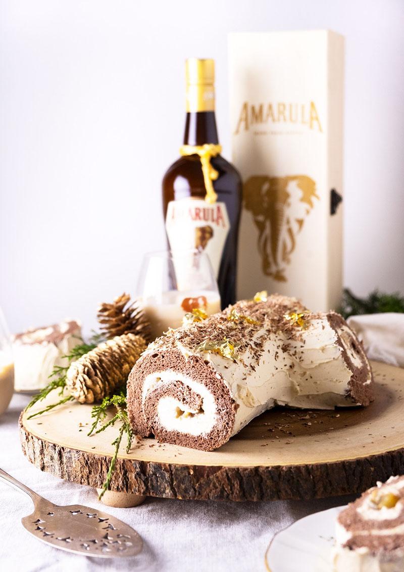 Amarula Ganache and Spiced Peark Yule Log | Yummy Workshop