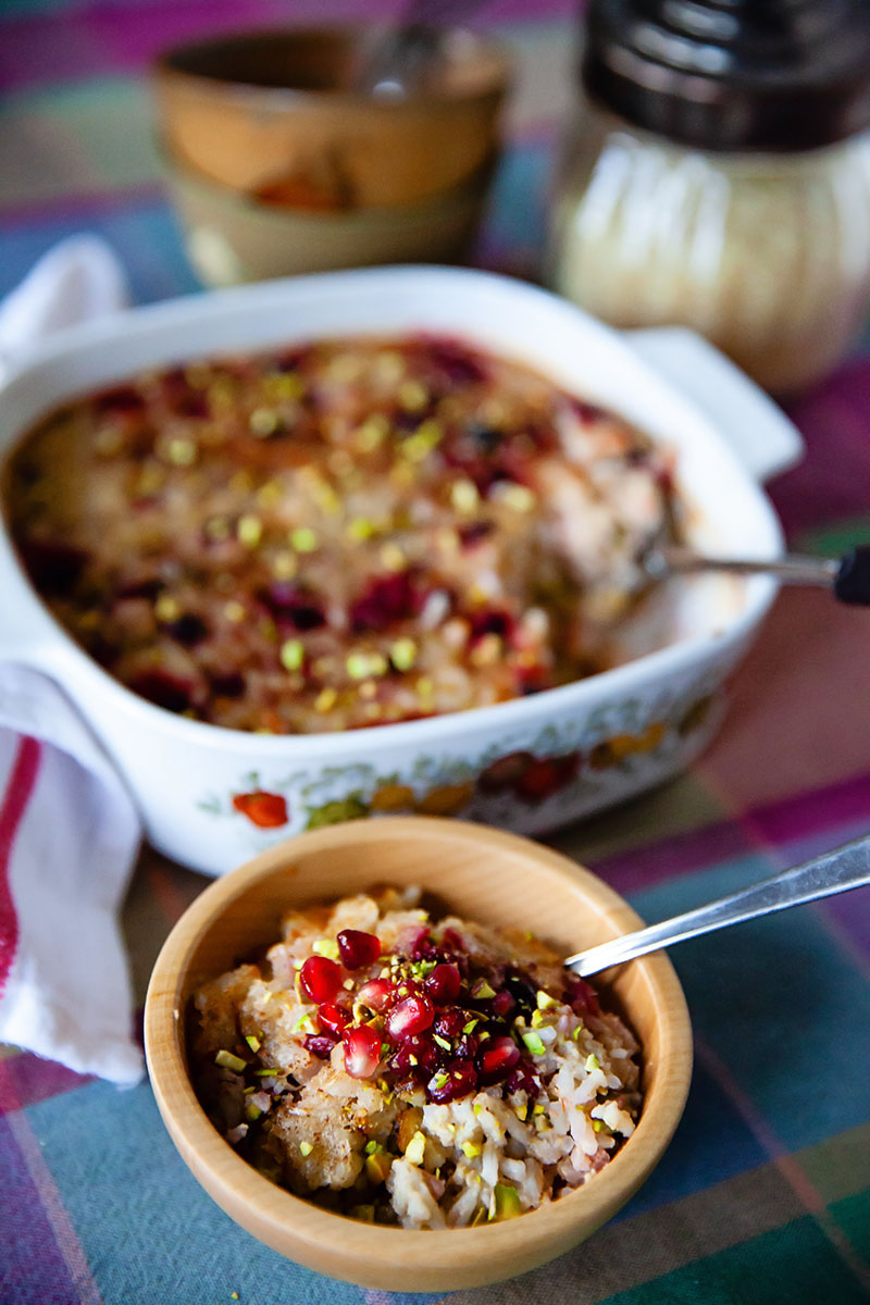 Cranberry Pomegranate Rice Pudding | Food Bloggers of Canada