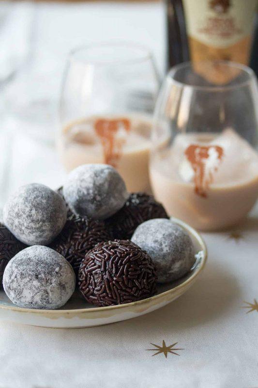 Dark Chocolate Amarula Balls   Crumb