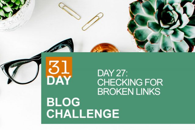 31 Day Blog Challenge Day 27: Checking For Broken Links